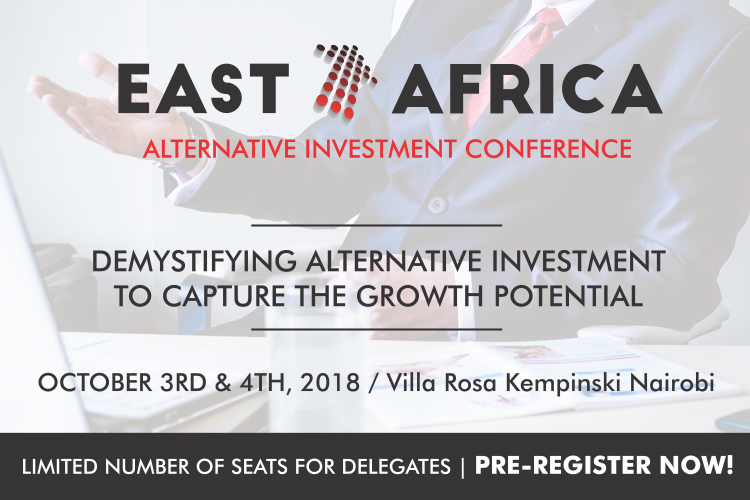 <p>The East Africa Alternative Investment Conference aims to create a forum for rich dialogue and debate between leading investors, managers, the youth and other persons interested in this exciting industry. This forum comes at a time when investors are increasingly dependent on alternative investments to generate returns in an era of low returns, propelling alternative strategies to center stage as a lucrative vein of investment.</p>