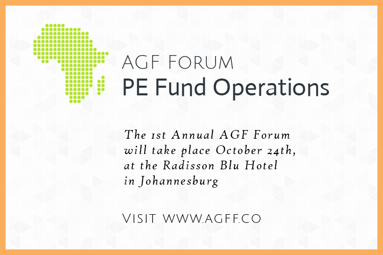 "<p>The 2019 AGF Forum will assemble cutting-edge thinkers, management of leading Private Equity Firms (CFOs, COOs, CTOs), and Asset Managers to discuss the major developments that affect private investment fund operations; the forum will take place October 29th, 2019 at the Radisson Blu Hotel in Johannesburg.</p>  <p>Visit <a href=""https://www.agff.co"">www.agff.co</a></p>"